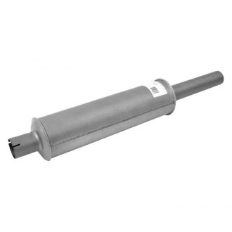"Walker® - Heavy Duty Stainless Steel Round Agricultural Aluminized Exhaust Muffler (1.5"" Center ID, 1.5"" Center OD, 23"" Length)"