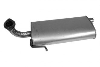 "Walker® 21440 - Quiet-Flow™ Stainless Steel Aluminized Oval Muffler (2"" Offset Inlet / 2"" Center Outlet)"