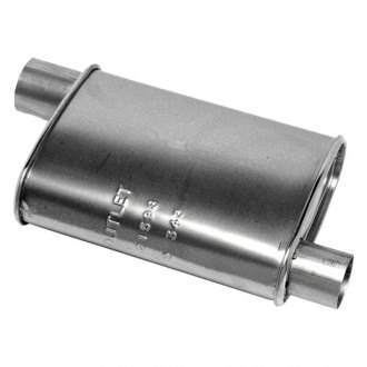 Walker® - Quiet-Flow™ Passenger Side Stainless Steel Aluminized Exhaust Muffler
