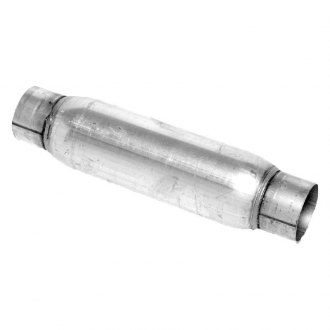"Walker® - Glass Pack Series Stainless Steel Round Aluminized Exhaust Muffler (2"" ID, 2"" OD, 14"" Length)"