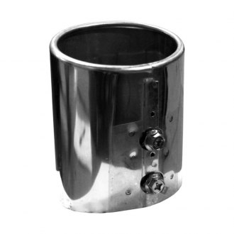 Walker® - Stainless Steel Round Straight Cut Chrome Exhaust Tip