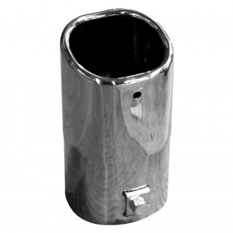 Walker® - Steel Square Bolt-On Chrome Exhaust Tip