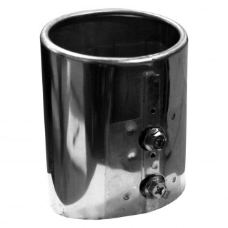 Walker® - Steel Round Straight Cut Bolt-On Chrome Exhaust Tip