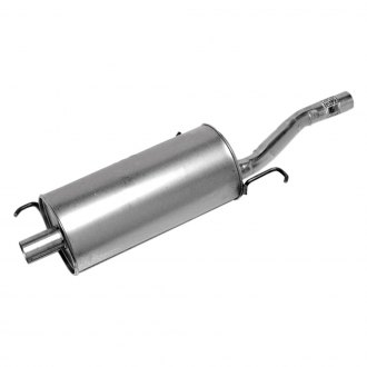 Walker® - Quiet-Flow™ Stainless Steel Round Aluminized Exhaust Muffler and Pipe Assembly