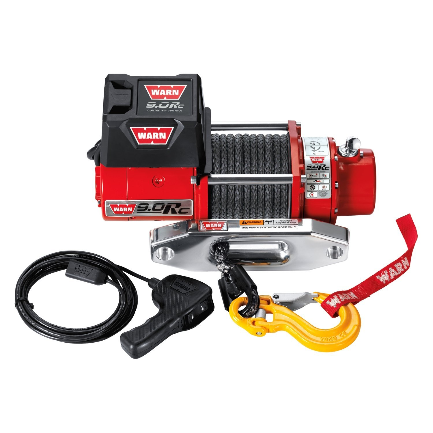 WARN® 71550 - 9,000 lbs 9.0Rc Series Rock Crawling Electric Winch With Synthetic Spydura™ Rope