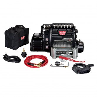 Warn® - PowerPlant 12 Ultimate Performance Series 12000 lbs Electric Winch with Wire Rope