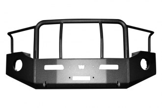 Warn® - Heavy Duty Off-Road Winch Bumper with Brush Guard