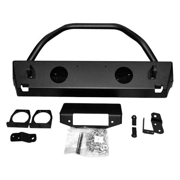 Warn® - Rock Crawler Stubby Front Bumper with Grille Guard Tube