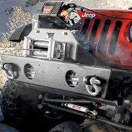 WARN® - Heavy Duty Front Bumper with Electric Winch