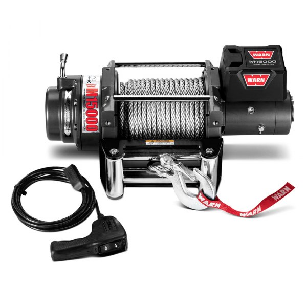 Warn® - 15000 lbs M15000 Self-Recovery Electric Winch