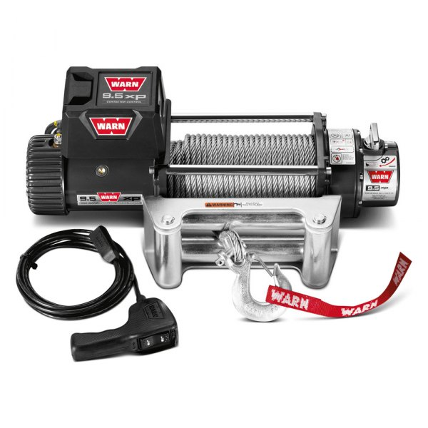 WARN® - 9500 lbs 12V DC 9.5xp Self-Recovery Electric Winch with Roller Fairlead
