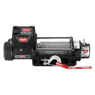 WARN® - 9500 lbs 12V DC 9.5xp Self-Recovery Electric Winch with Hawse Fairlead and 100ft. Wire Rope