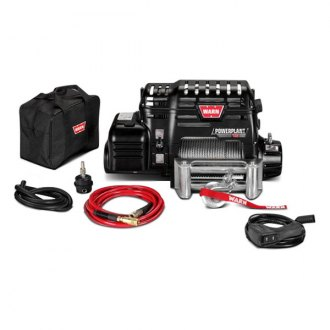 Warn® - PowerPlant 12 Ultimate Performance Series 12000 lbs Electric Winch with Air Compressor
