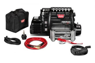Warn® - 12000 lbs PowerPlant 12 Ultimate Performance Series Electric Winch with Air Compressor