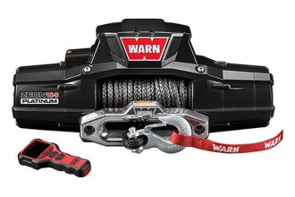 Warn® - 10000 lbs 12V DC ZEON™ 10-S Platinum™Ultimate Performance Series Electric Winch with Spydura Rope