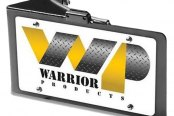 Warrior® - Rear Replacement License Plate Bracket with LED Light
