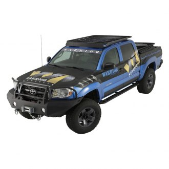 Warrior® - Full Width Black Front Winch HD Bumper with Brush Guard