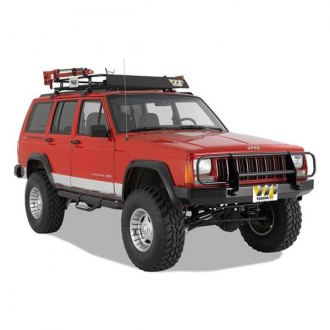 Warrior® - Rock Crawler Full Width Black Front HD Bumper with Brush Guard
