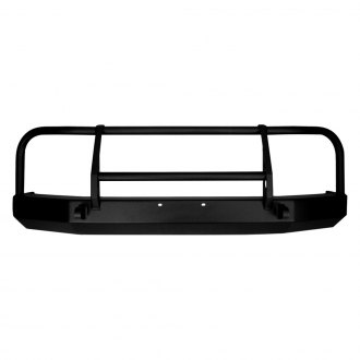 Warrior® - Full Width Black Front HD Bumper with Brush Guard
