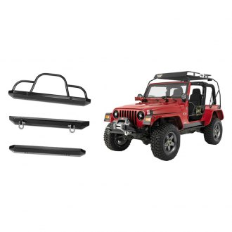 Warrior® - Rock Crawler Full Width Black Front Winch HD Bumper