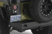 Warrior® - Rock Crawler Rear Bumper with D-Ring Mounts