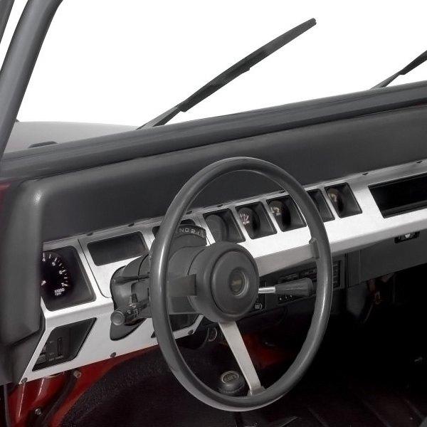 Warrior jeep wrangler 1987 1995 center dash overlays for Jeep wrangler yj interior accessories