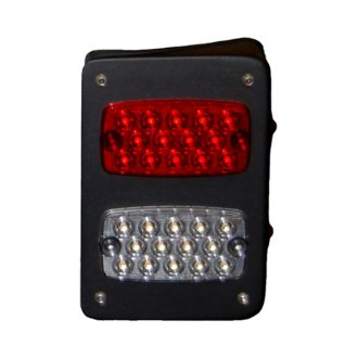 Warrior® - Chrome/Red LED Tail Lights