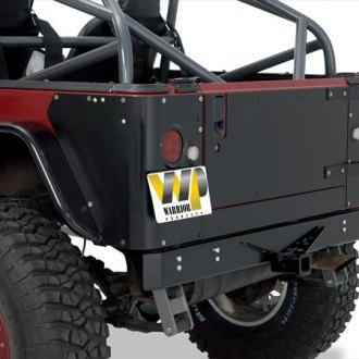 Warrior® - Full Width Black Rear HD Bumper with Class III Receiver Hitch