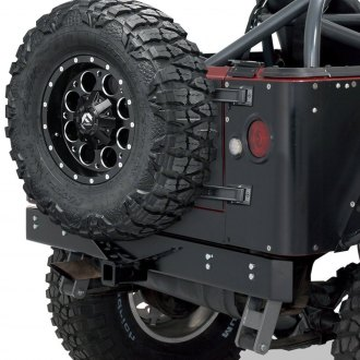 Warrior® - Full Width Rear HD Bumper with Class III Receiver Hitch