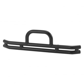Warrior® - Full Width Black Front Tubular Bumper with Hoop