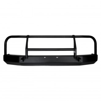 Warrior® - Full Width Black Front HD Bumper with Grille Guard