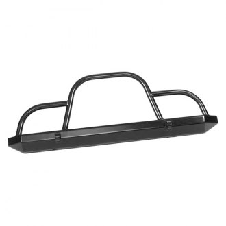 Warrior® - Rock Crawler Full Width Black Front HD Bumper with Hoop