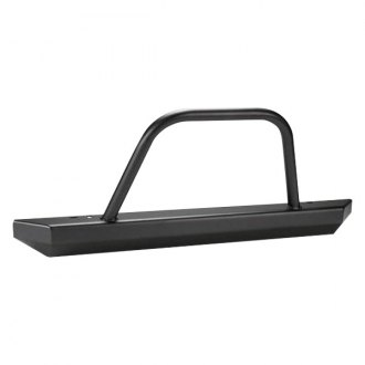 Warrior® - Stubby Black Front HD Bumper with Hoop