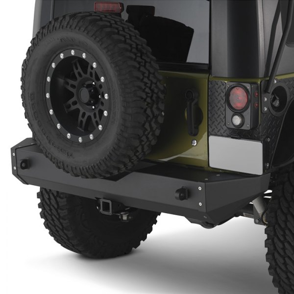 Warrior® - Rock Crawler Full Width Rear HD Black Bumper