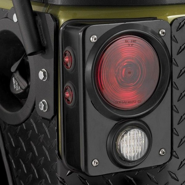 Warrior Rear Corner Cover on Jeep Wrangler