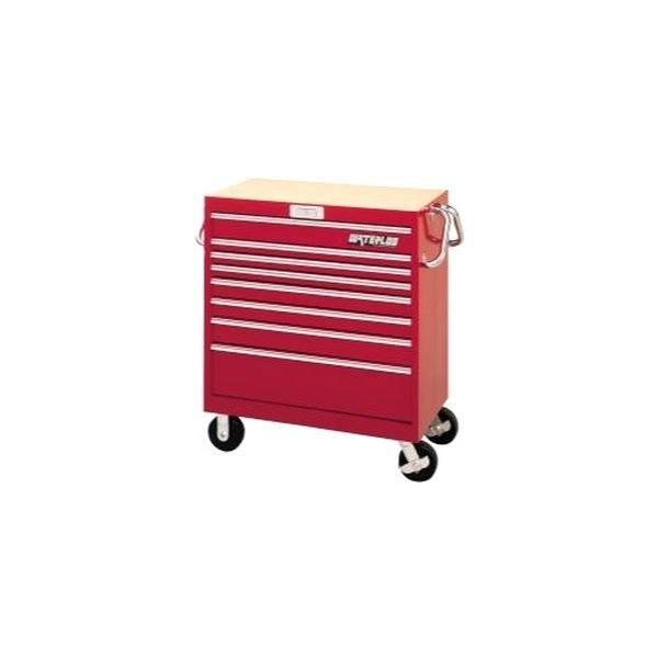"waterloo industries® mg3608 - 36"" magnum™ red 8 drawer tool cart"