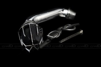 Weapon-R® 801-113-101 - Dragon Air Intake System (Polished Pipe, Gunmetal Filter Cage and Black Foam)