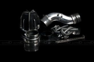 Weapon-R® 804-112-101 - Dragon Air Intake System (Polished Pipe, Gunmetal Filter Cage and Black Foam)