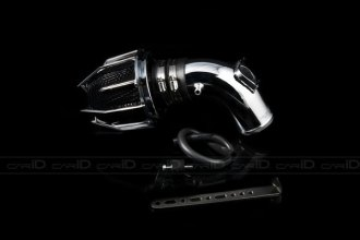 Weapon-R® 805-124-101 - Dragon Air Intake System (Polished Pipe, Gunmetal Filter Cage and Black Foam, V6)