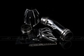 Weapon-R® 805-155-101 - Dragon Air Intake System (Polished Pipe, Gunmetal Filter Cage and Black Foam)