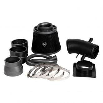 Weapon-R® - Stealth Secret Weapon Aluminum Flat Black Short Ram Air Intake System with Black Filter