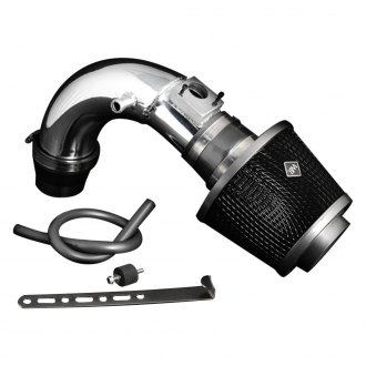 Weapon-R® - Secret Weapon Aluminum Polished Short Ram Air Intake System with Black Filter