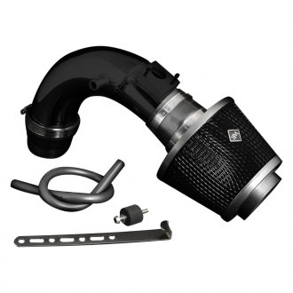 Weapon-R® - Stealth Secret Weapon Air Intake System (Flat Black Pipe, Gunmetal Filter Cage, Black Foam Filter)