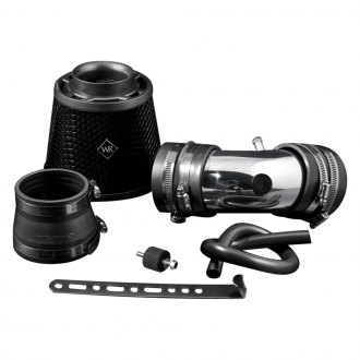 Weapon-R® - Stealth Secret Weapon Air Intake System (Flat Black Pipe, Gunmetal/Black Foam Filter)