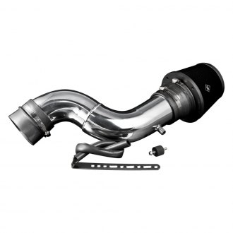Weapon-R® - Secret Weapon Aluminum Polished Short Ram Air Intake System and Air Box with Black Filter