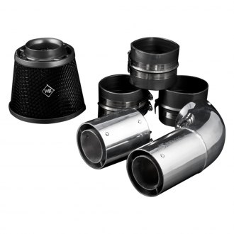 Weapon-R® - Secret Weapon Aluminum Polished Short Ram Air Intake System with Black Filter and Air Box