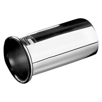 Weapon-R® - Stainless Steel Round Clamp-On Polished Exhaust Tip