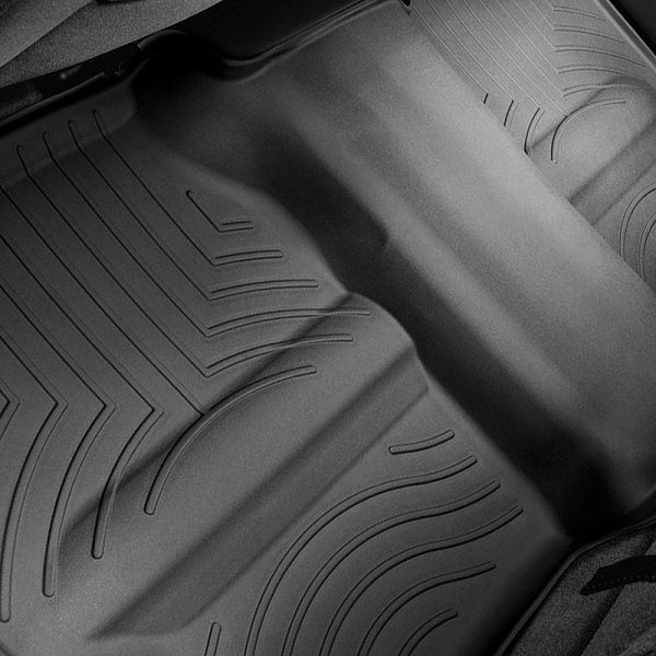WeatherTech® - DigitalFit™ Molded Floor Liners 2nd Row - With Under-seat Coverage, Black