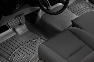 WeatherTech® 442941 - DigitalFit™ Molded Floor Liners (1st Row - Over The Hump, Black)