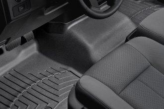 WeatherTech® 444091 - DigitalFit™ Molded Floor Liner (1st Row - Over The Hump, Black)